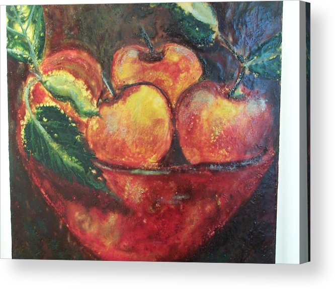 Still Life Acrylic Print featuring the painting Apples by Karla Phlypo-Price