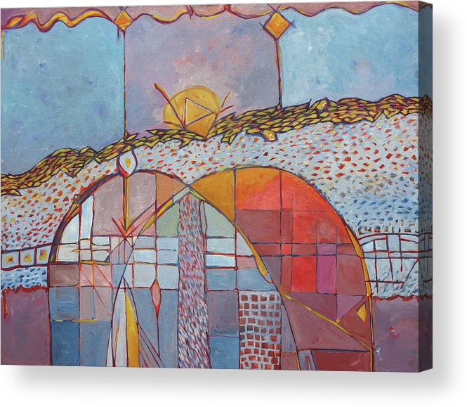 Arch Acrylic Print featuring the painting Archeo by Michael Velkovich