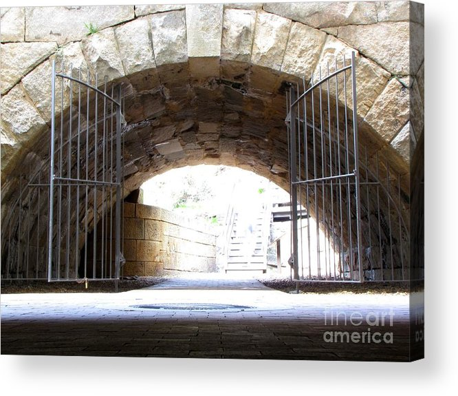Schuminweb Acrylic Print featuring the photograph Archway And Gate by Ben Schumin