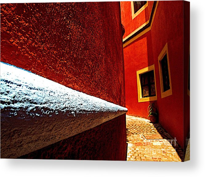 Darian Day Acrylic Print featuring the photograph Around The Corner by Mexicolors Art Photography