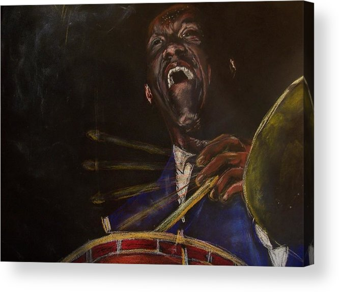 Jazz Acrylic Print featuring the drawing Art Blakey Jazz Messenger by Darryl Hines
