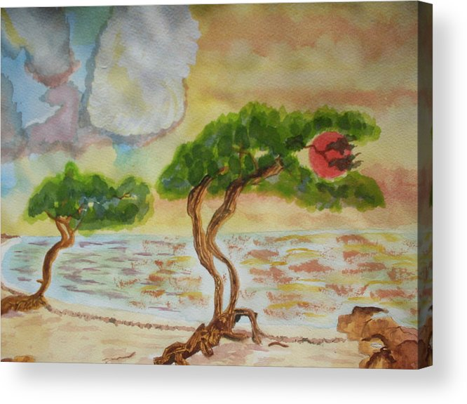 Acrylic Print featuring the painting Aruba Sky by Warren Thompson