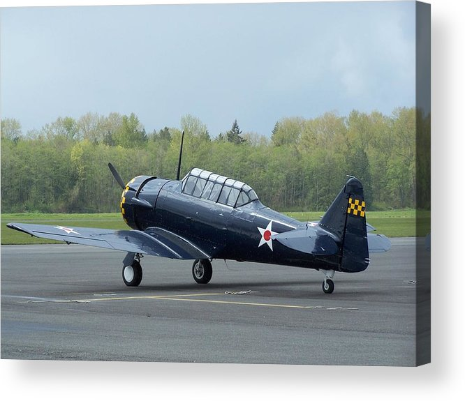 At-6 Acrylic Print featuring the photograph At-6 Texan by Gene Ritchhart