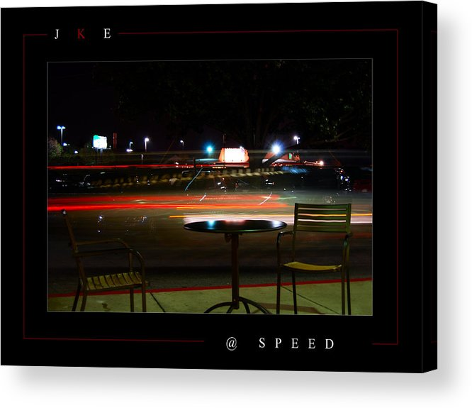 Starbucks Acrylic Print featuring the photograph At Speed by Jonathan Ellis Keys