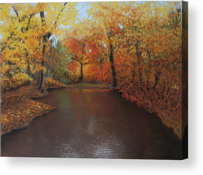 Landscape Acrylic Print featuring the painting Autumn Fire by Susan Jenkins