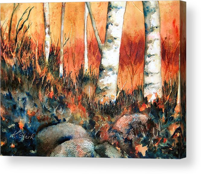 Landscape Acrylic Print featuring the painting Autumn by Karen Stark