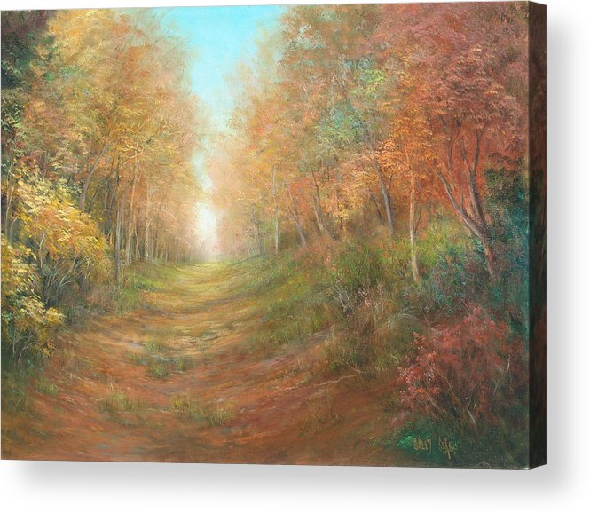 Landscape Acrylic Print featuring the painting Autumn Majesty by Sally Seago