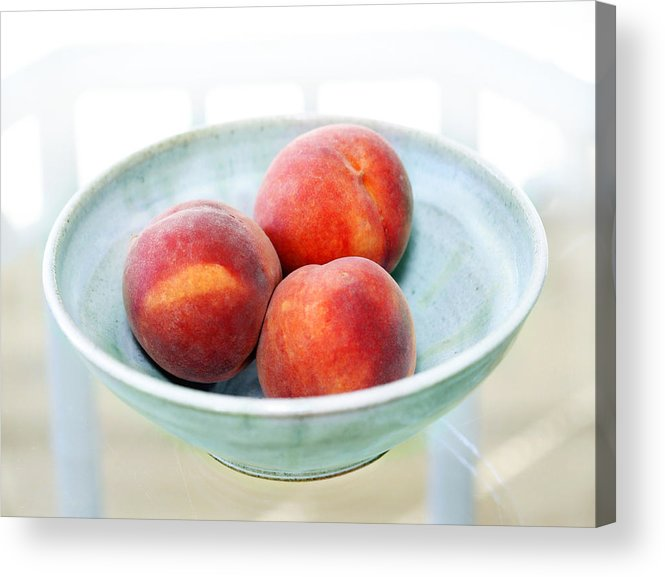Peaches Acrylic Print featuring the photograph Autumn Peaches by Marilyn Hunt