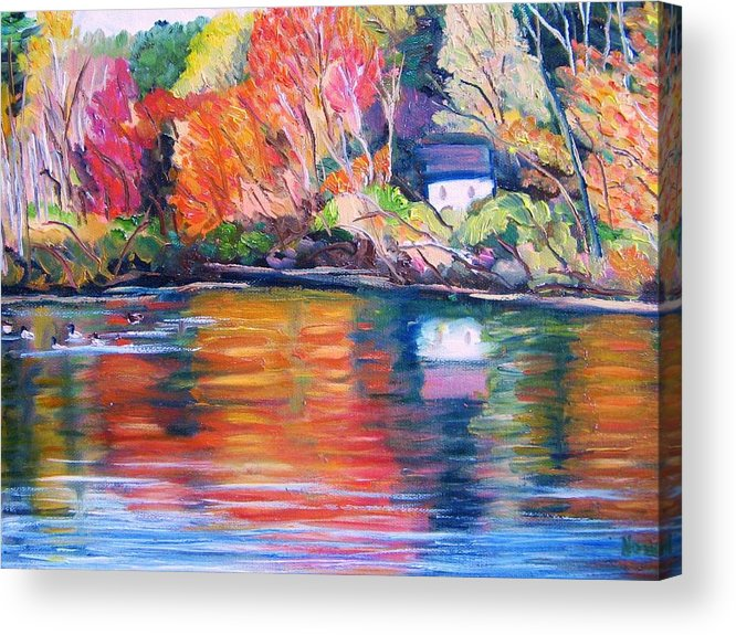 Autumn Acrylic Print featuring the painting Autumn Reflections by Richard Nowak