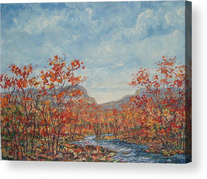 Paintings Acrylic Print featuring the painting Autumn View. by Leonard Holland