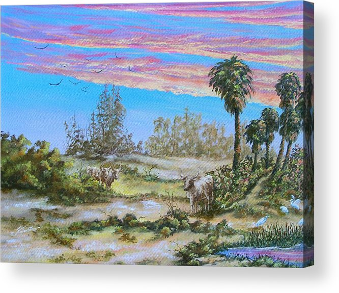 Landscape Acrylic Print featuring the painting Back Forty One by Dennis Vebert