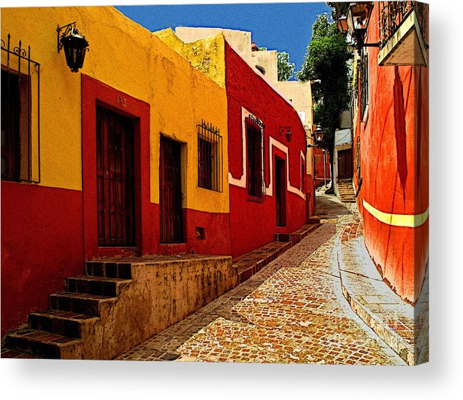 Darian Day Acrylic Print featuring the photograph Back Street Guanajuato by Mexicolors Art Photography