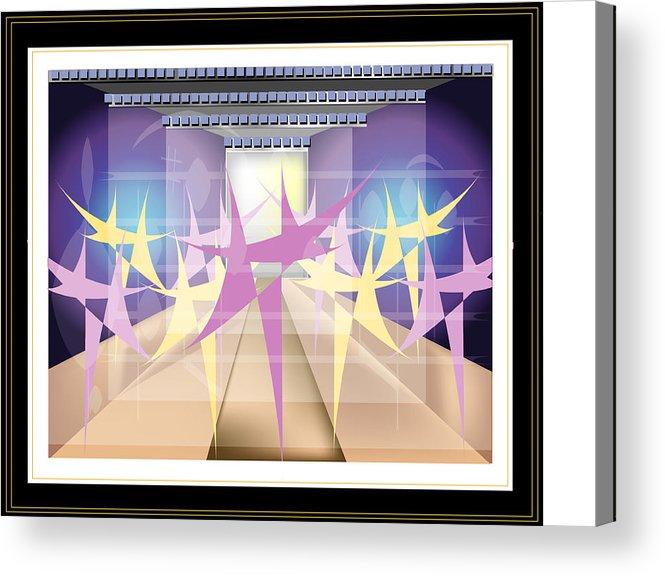Dance Acrylic Print featuring the digital art Ballet by George Pasini