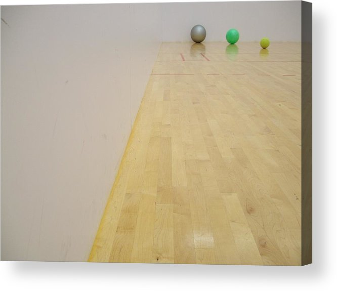 Photogragh Acrylic Print featuring the photograph Balls And White Walls by Samantha Gilbert