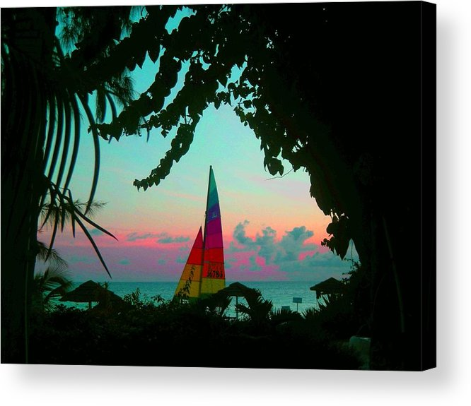 Barbados Acrylic Print featuring the photograph Barbados In Supercolor by Caroline Urbania Naeem