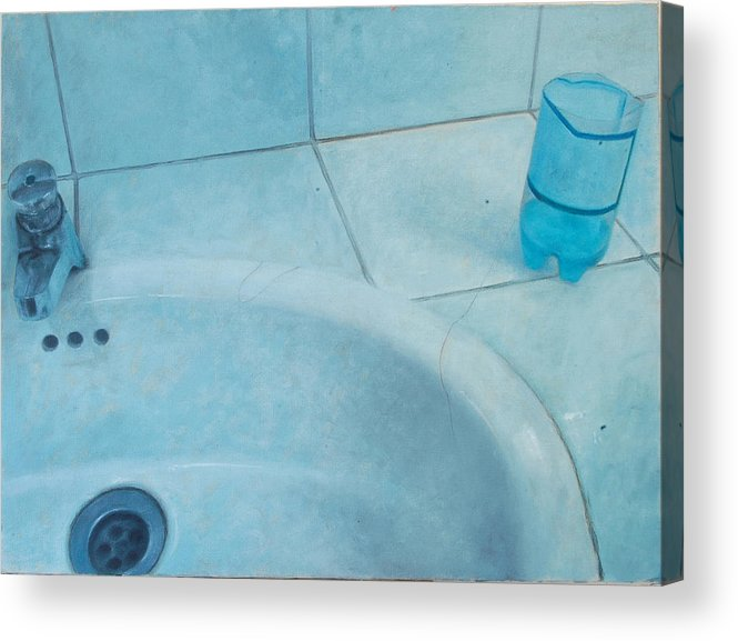 Bath Acrylic Print featuring the painting Bath by Carola Moreno