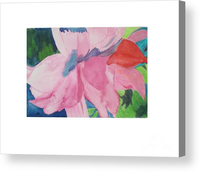 Flower Acrylic Print featuring the painting Beautiful Azalea by Hal Newhouser