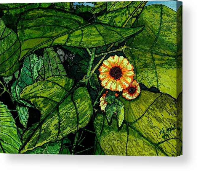 Landscape Acrylic Print featuring the painting Beauty In The Midst by Willie McNeal
