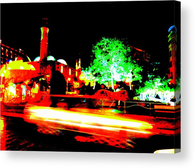 Lebanon Acrylic Print featuring the photograph Beirut By Night by Funkpix Photo Hunter
