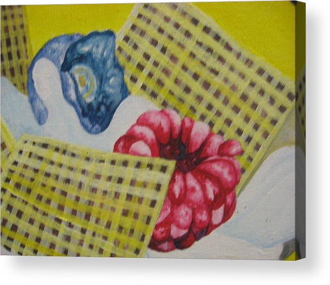 Berries Acrylic Print featuring the painting Berry Mix 2 by Theodora Dimitrijevic