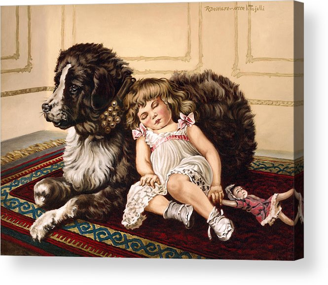 Victorian Acrylic Print featuring the painting Best Friends by Richard De Wolfe