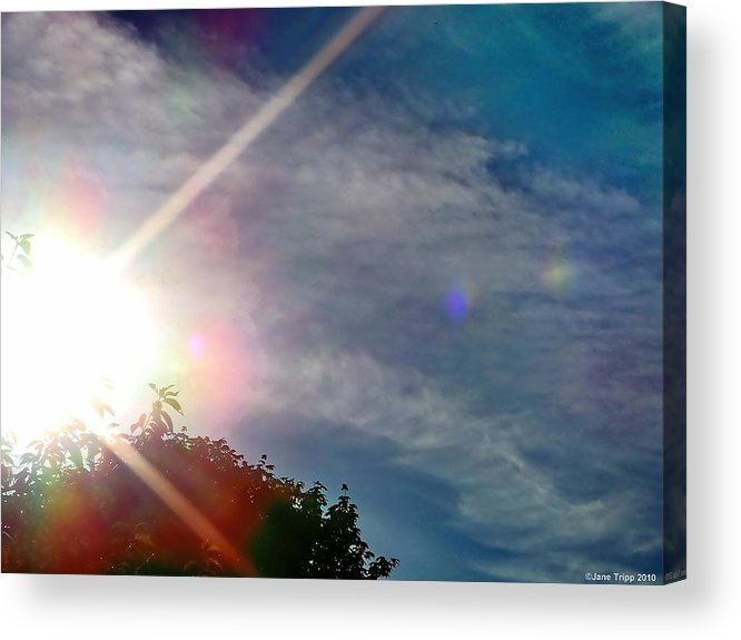 Impressionistic Sky Photograph Acrylic Print featuring the photograph Better Times Are Coming by Jane Tripp