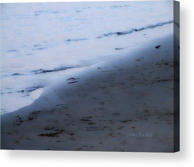 Beach Acrylic Print featuring the photograph Between Light And Shadow by Donna Blackhall