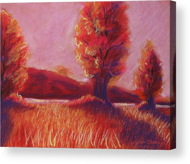 Trees Acrylic Print featuring the painting Big Otter Creek - Sunset by Wynn Creasy