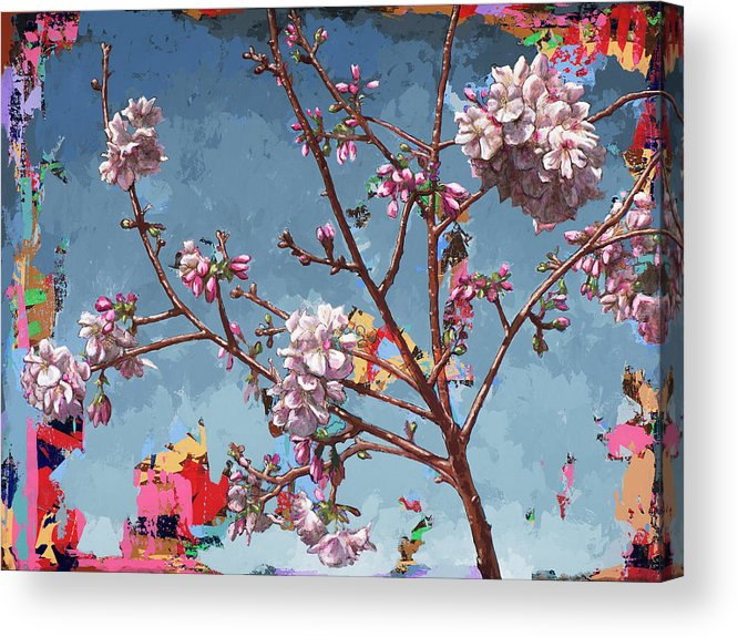 Cherryblossoms Acrylic Print featuring the painting Biosphere #7 by David Palmer