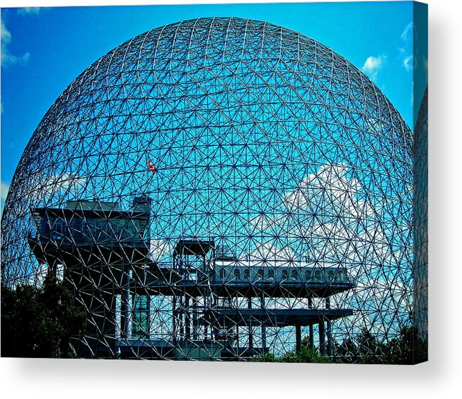 North America Acrylic Print featuring the photograph Biosphere Montreal by Juergen Weiss