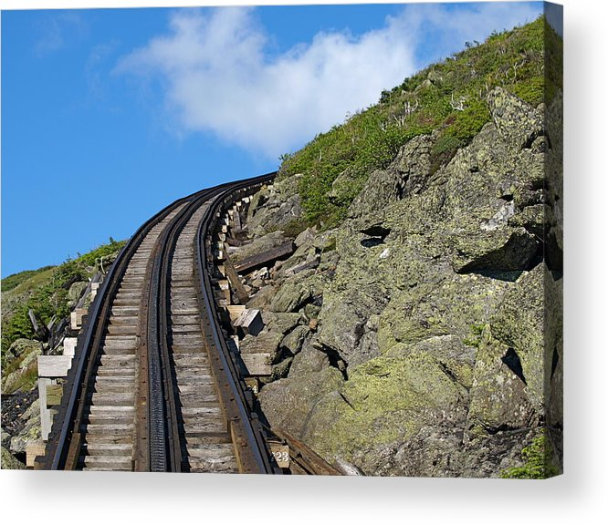 Trains.tracks Acrylic Print featuring the photograph Blind Corner by Peter Gray