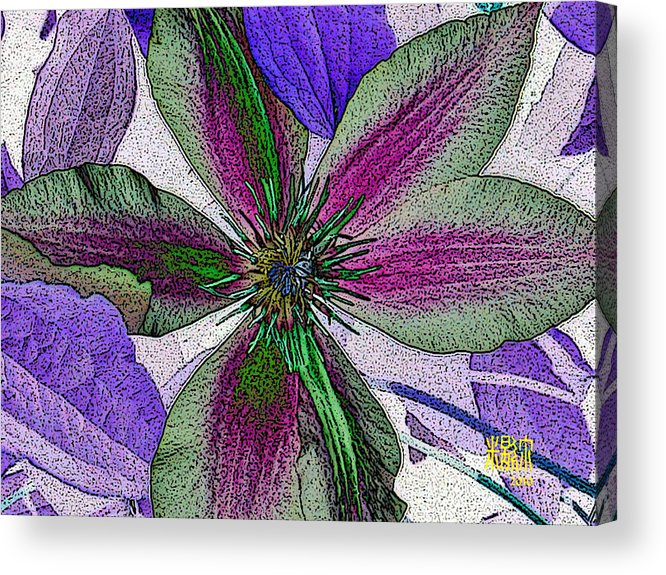 Flowers Acrylic Print featuring the digital art Bliss by Michele Caporaso