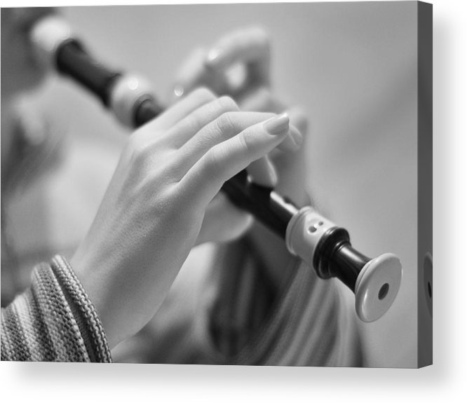 Block Flute Acrylic Print featuring the photograph Block Flute by Alexey Mikhaylov