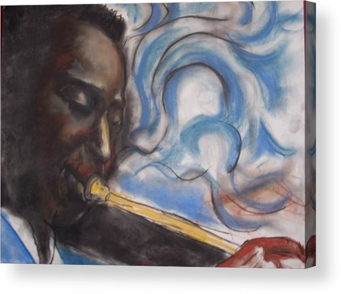 Miles Davis Acrylic Print featuring the print Blue Miles by Darryl Hines