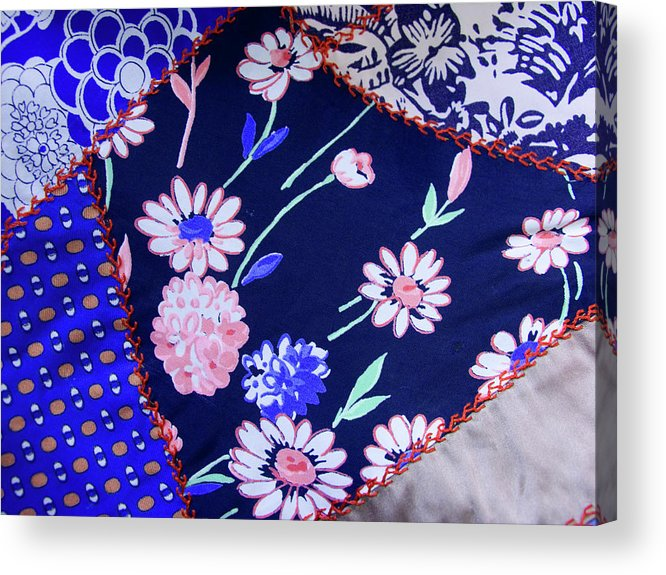 Quilt Art Acrylic Print featuring the photograph Blue On Blue by Bonnie Bruno