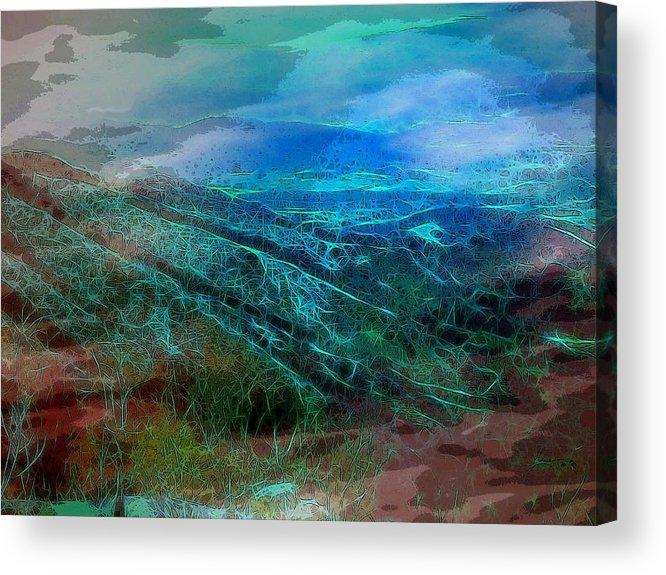Blue Ridge Mountains Virginia Usa Shenandoah Valley Landscape Panorama Acrylic Print featuring the digital art Blue Ridge Mountains by Susan Epps Oliver