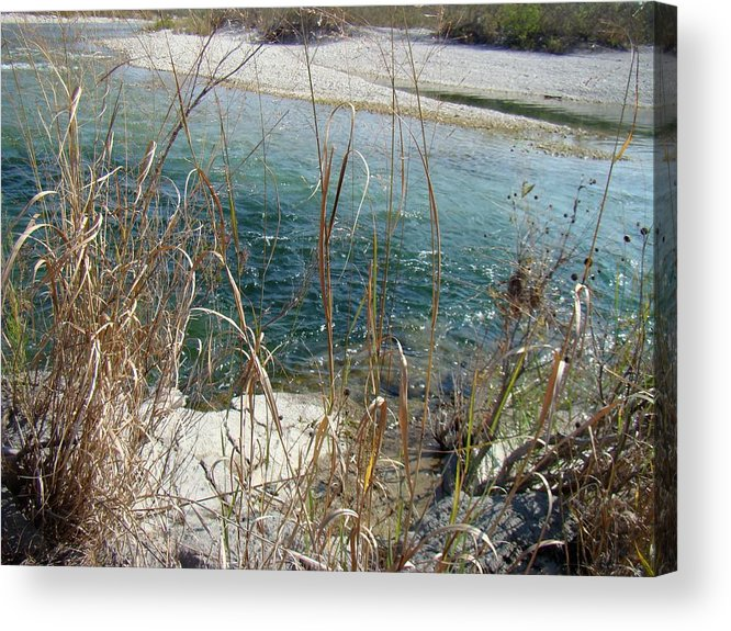 Clean Acrylic Print featuring the photograph Blue River Two by Ana Villaronga