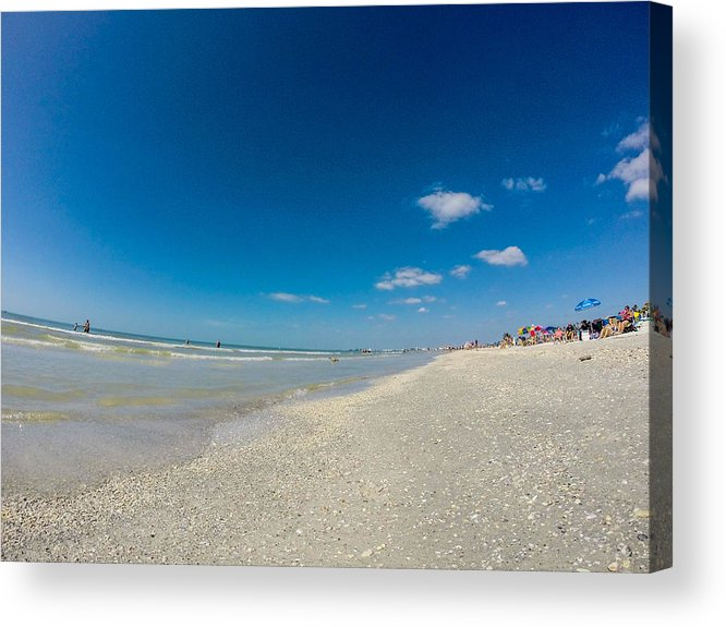 Beach Acrylic Print featuring the photograph Blue Skies And Soft Sand by Amanda Liner