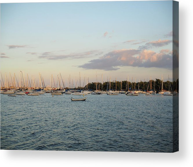 Usa. Us Acrylic Print featuring the photograph Boats by David Alexander Arnavat