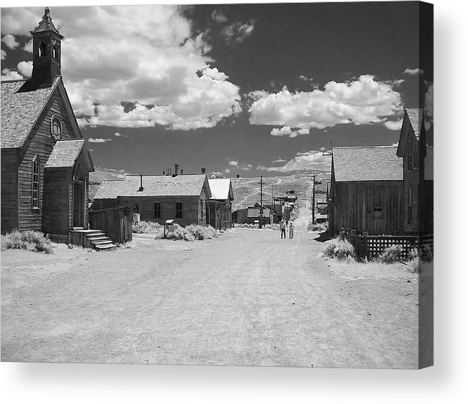 Ghost Town Acrylic Print featuring the photograph Bodie A Ghost Town Infrared by Christine Till