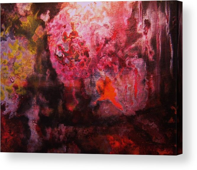 Boiling Lava Acrylic Print featuring the painting Boiling Lava by Meshal Hardie
