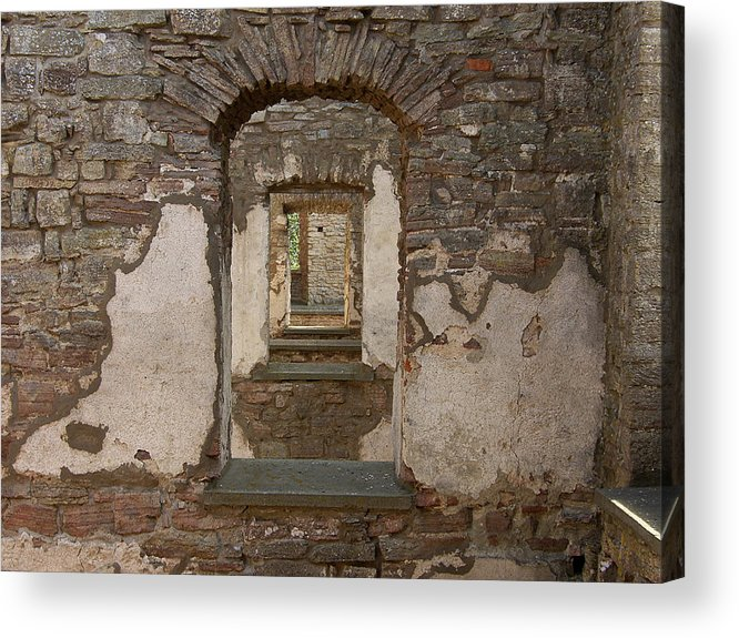 Arch Acrylic Print featuring the photograph Borgholm Castle by Are Lund