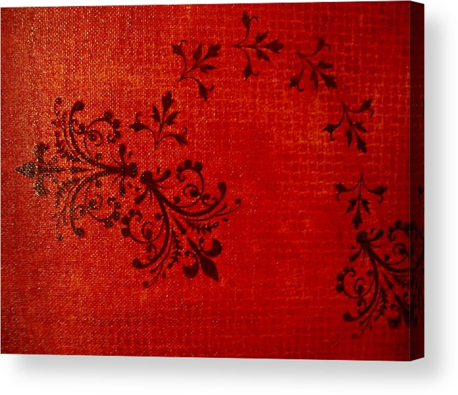 Red Acrylic Print featuring the painting Boudoir One by Laurette Escobar