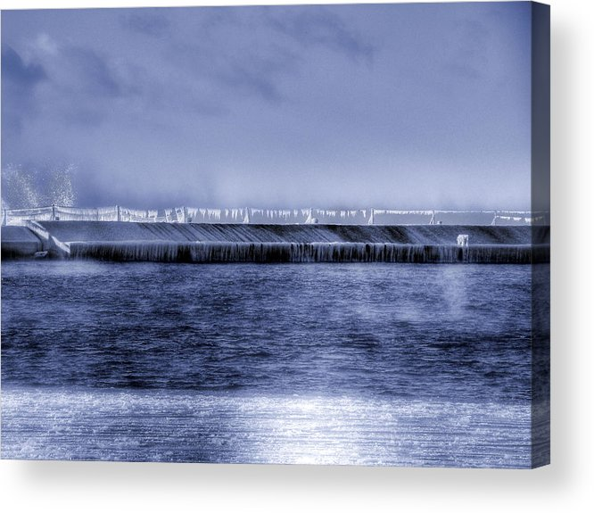 Minnesota Acrylic Print featuring the photograph Breakwater by Tingy Wende