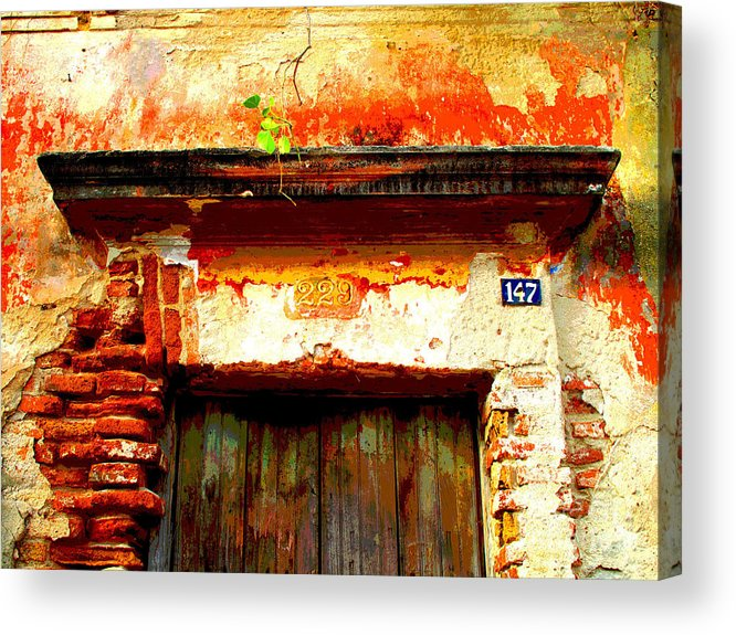 Darian Day Acrylic Print featuring the photograph Brick And Wood By Darian Day by Mexicolors Art Photography