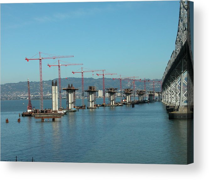 Water Acrylic Print featuring the photograph Bridge Progression by Jerry Patchin