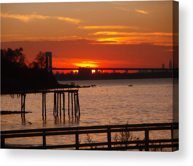Photography Acrylic Print featuring the photograph Bridge Sunset by Bill Ades