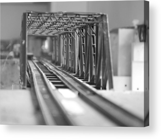 Models Acrylic Print featuring the photograph Bridge To Jerry Town by Margaret Fortunato