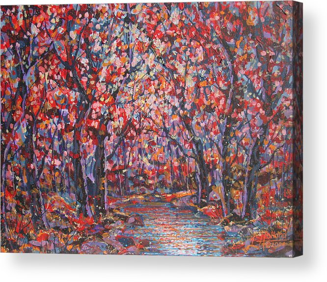 Forest Acrylic Print featuring the painting Brilliant Autumn. by Leonard Holland