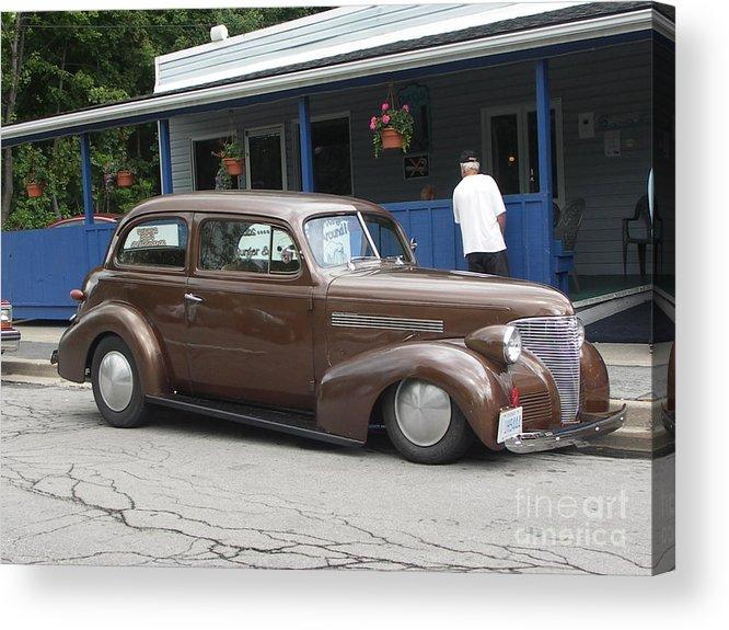 Antique Cars Acrylic Print featuring the photograph Brown Bertha by Deborah Selib-Haig DMacq